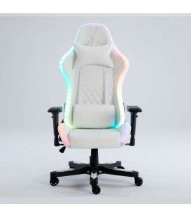 PREMIUM GAMING CHAIR AURORA WHITE BRD RGB