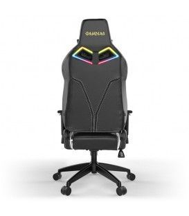 ACHILLES E1-L RGB GAMING CHAIR / WHITE-BLACK